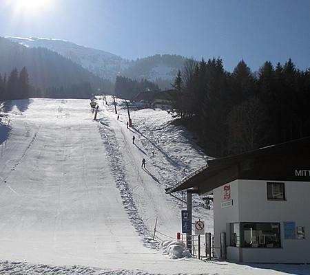 150m zum Skilift